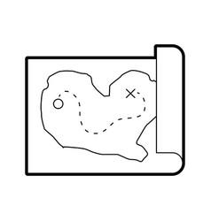 Treasure map game icon vector