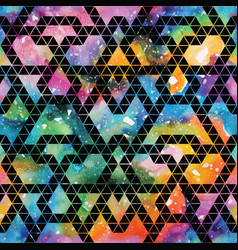 tribal galaxy seamless pattern vector image