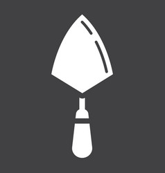 trowel glyph icon build and repair bricklayer vector image