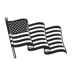 United states waving flag concept vector