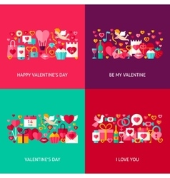 Valentines Day Greeting Set vector