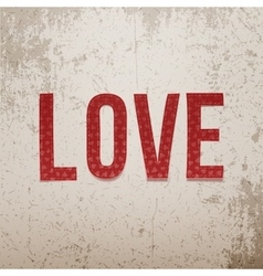 Valentines Day paper Word on grunge Background vector image