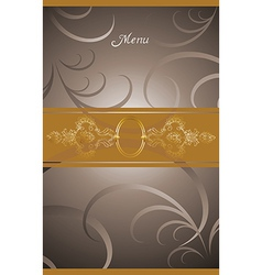 victorian menu cover design vector image