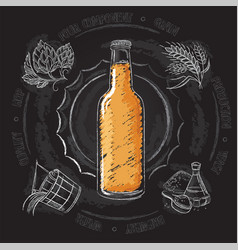 Vintage hand drawn of brewers vector
