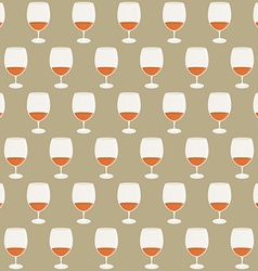 Vintage seamless pattern wineglasses with red wine vector