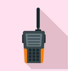 walkie talkie icon flat style vector image