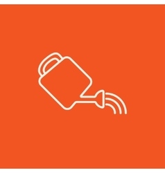 Watering can line icon vector image