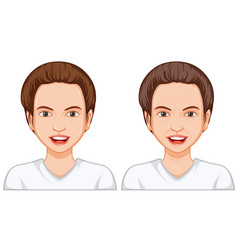 young and old woman face vector image