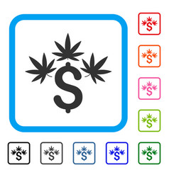 cannabis business framed icon vector image vector image