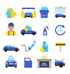 car washing equipment cleaning service vector image vector image