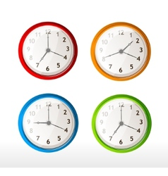 different color timer icons vector image