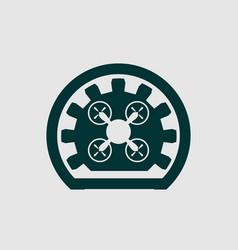 drone quadrocopter icon emblem vector image vector image