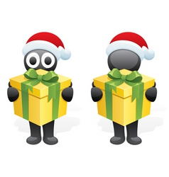 inkys gift vector image