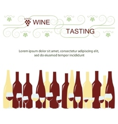 Invitation template for wine testing vector image
