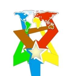 leaflet pamphlet booklet material world map vector image