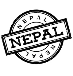 Nepal rubber stamp vector image