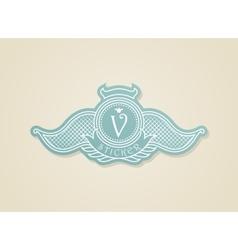 Stamp calligraphic design elements Luxury vector image