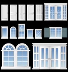 window and door vector image vector image