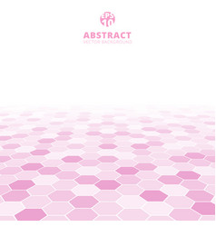 abstract hexagon perspective pattern white and vector image vector image