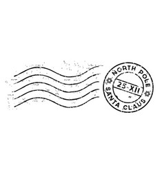 christmas post stamp isolated on white vector image