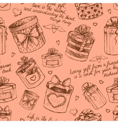 Seamless gift present boxes pattern vector image vector image