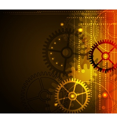 stylized glowing background vector image vector image