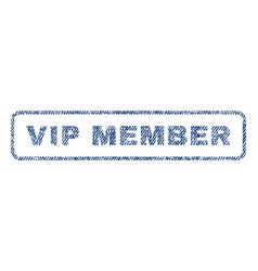Vip member textile stamp vector