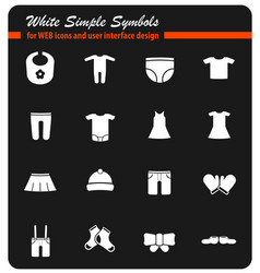baby clothes simply icons vector image