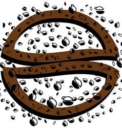 Black background coffee vector image