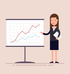 businesswoman or an employee with documents in his vector image vector image