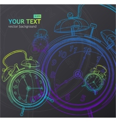 clock background vector image vector image