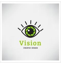 Green Eye Logo vision vector image vector image