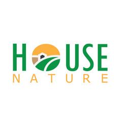 house nature logo vector image vector image