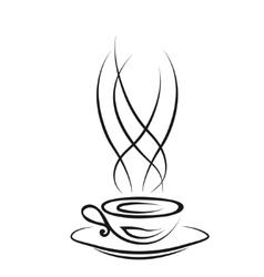 Cup of hot drink vector