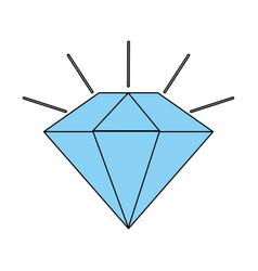 Diamond stone cartoon vector