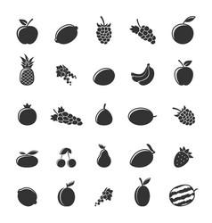 flat fruit set vector image vector image