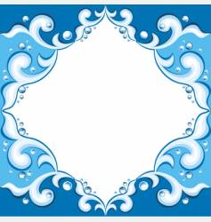 frame with aqua design vector image vector image