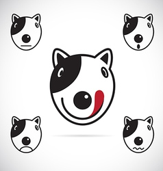 images of Bull terrier face vector image vector image