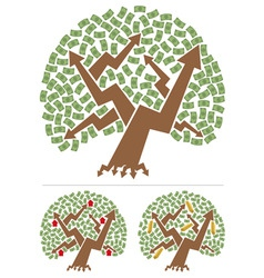 investments tree vector image