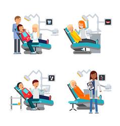 patient in dentist room healthcare vector image vector image
