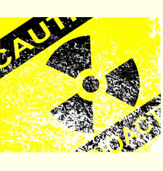 Radioactive grunge sign vector
