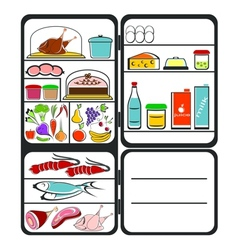 Refrigerator with food vector image vector image