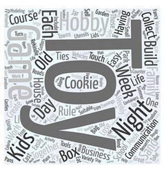 Toy game hobby word cloud concept vector