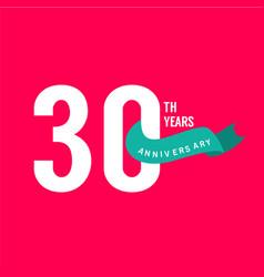 30 years anniversary template design vector