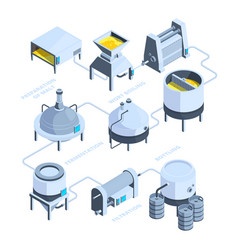 3d landscape brewery isometric vector