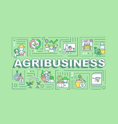 Agribusiness word concepts banner vector