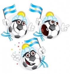argentinian cartoon ball vector image