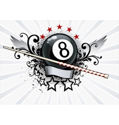 Billiards Emblem vector image