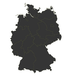 Black map of germany vector