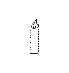 candle line icon - black on white vector image